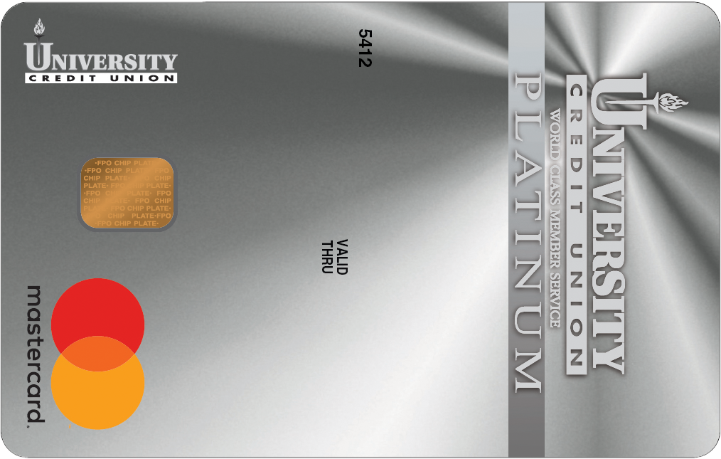University Credit Union Platinum MasterCard