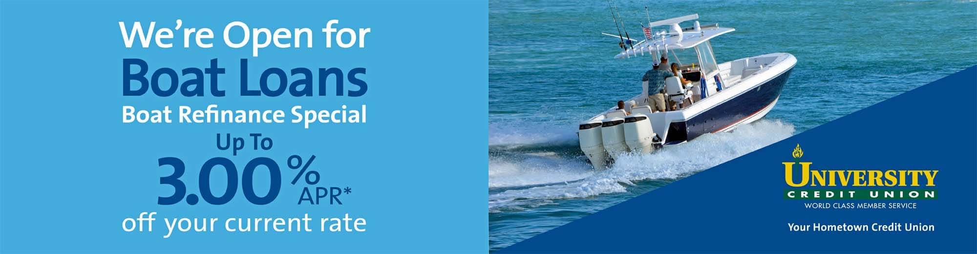 Refinance your Boat and Save!