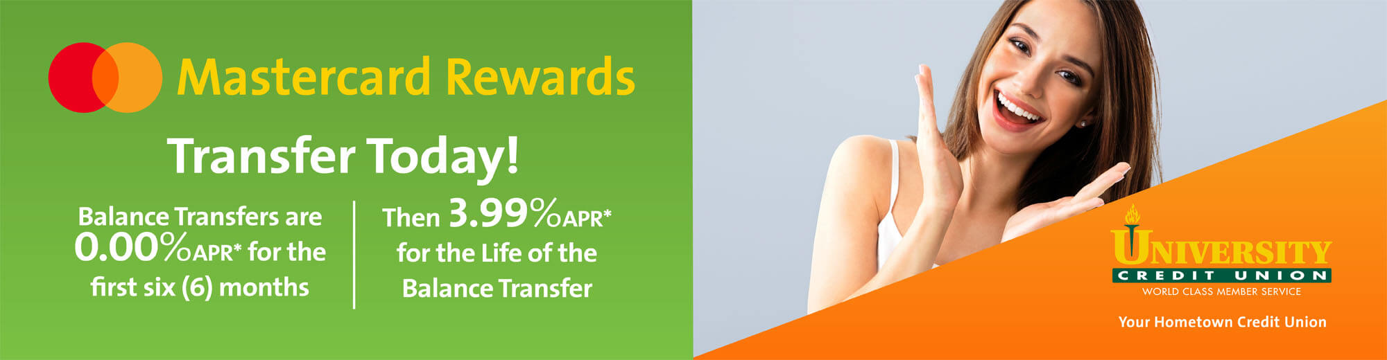 0.00% on Balance Transfers to your Rewards Mastercard